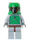 Minifig No: sw0002b  Name: Boba Fett - Bluish Grays - Dark Red Helmet Highlights