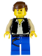 Minifig No: sw0014  Name: Han Solo, Blue Legs (Falcon)