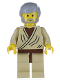 Minifig No: sw0023a  Name: Obi-Wan Kenobi (Old with Light Bluish Gray Hair)