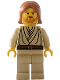 Minifig No: sw0055a  Name: Obi-Wan Kenobi (Young with Dark Orange Hair, without Headset)