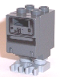 Minifig No: sw0073a  Name: Gonk Droid (GNK Power Droid), Dark Bluish Gray Body and Light Bluish Gray Legs