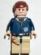 Minifig No: sw0081  Name: Han Solo, Tan Legs, Reddish Brown Male Hair (Falcon redesign, Light Flesh)