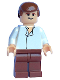 Minifig No: sw0084  Name: Han Solo, Reddish Brown Legs without Holster Pattern (Skiff, Light Flesh)