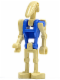 Minifig No: sw0095a  Name: Battle Droid Pilot with Blue Torso