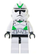 Minifig No: sw0129  Name: Clone Trooper Episode 3, Green Markings