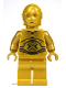 Minifig No: sw0161a  Name: C-3PO - Pearl Gold with Pearl Gold Hands