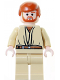 Minifig No: sw0162  Name: Obi-Wan Kenobi, Tan Legs, Light Flesh Head with Headset