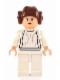 Minifig No: sw0175a  Name: Princess Leia (White Dress, Light Flesh, Small Eyes, Smooth Hair)