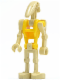 Minifig No: sw0184  Name: Battle Droid Commander with Straight Arm and Yellow Torso