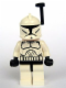 Minifig No: sw0200a  Name: Clone Trooper Clone Wars with Black Helmet Antenna