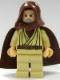 Minifig No: sw0206  Name: Obi-Wan Kenobi (Old, Light Flesh with Hood and Cape)