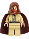 Minifig No: sw0234  Name: Obi-Wan Kenobi (Young, Light Flesh with Hood and Cape, Gold Headset)