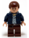 Minifig No: sw0290  Name: Han Solo, Reddish Brown Legs with Holster Pattern, Open Jacket