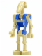 Minifig No: sw0300  Name: Battle Droid Pilot with Blue Torso with Tan Insignia