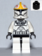 Minifig No: sw0355  Name: Clone Pilot (Clone Wars) with Black Head