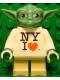 Minifig No: sw0465  Name: Yoda, NY I Heart Torso, Gray Hair (Toy Fair 2013 Exclusive)