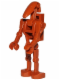 Minifig No: sw0467b  Name: Battle Droid Dark Orange with Back Plate