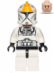 Minifig No: sw0491  Name: Clone Pilot (White Legs)