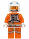 Minifig No: sw0597  Name: Snowspeeder Pilot - White Helmet, Headset