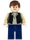 Minifig No: sw0601  Name: Han Solo, Black Vest, Dark Blue Legs