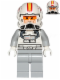Minifig No: sw0608  Name: Clone Pilot, Episode 3 with Open Helmet Yellow and Red Markings