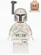 Minifig No: sw0631  Name: Boba Fett - White, Detailed Pattern
