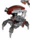 Minifig No: sw0642s  Name: Droideka - Destroyer Droid (Reddish Brown Triangles with Stickers)