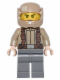 Minifig No: sw0720  Name: Resistance Trooper - Dark Tan Jacket, Frown, Cheek Lines