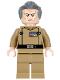 Minifig No: sw0741  Name: Grand Moff Wilhuff Tarkin - Dark Tan Uniform