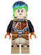 Minifig No: sw0742  Name: Sabine Wren - Bright Green and Dark Blue Hair