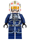 Minifig No: sw0801  Name: Rebel Pilot Y-wing (Dark Blue Jumpsuit)