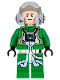 Minifig No: sw0819  Name: Rebel Pilot A-wing (Open Helmet, Green Jumpsuit)