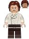 Minifig No: sw0823  Name: Han Solo, Dark Brown Legs, Wavy Hair