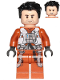 Minifig No: sw0931  Name: Poe Dameron (Pilot Jumpsuit, Hair)
