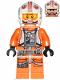 Minifig No: sw0991  Name: Luke Skywalker (Pilot, Printed Legs, Visor Up / Down)