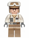 Minifig No: sw1015  Name: Hoth Rebel Trooper White Uniform, Dark Tan Legs (Frown)