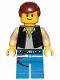 Minifig No: sw1032  Name: Han Solo, Blue Legs (20th Anniversary Torso)