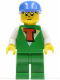 Minifig No: tim005  Name: Time Cruisers - Timmy with Green Legs, Blue Cap