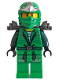 Minifig No: tlm067  Name: Ninja - Green (The Lego Movie, with Armor and  Scabbard)