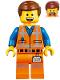 Minifig No: tlm113  Name: Emmet - Smile / Scream, Worn Uniform