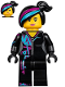 Minifig No: tlm115  Name: Lucy Wyldstyle with Magenta Lined Hoodie, Smile / Angry