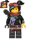 Minifig No: tlm117  Name: Lucy Wyldstyle with Black Quiver, Reddish Brown Scarf and Goggles, Open Mouth  Smile / Angry