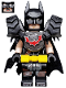Minifig No: tlm118  Name: Batman - Battle Ready, Tire Armor, Tattered Cape, Yellow Utility Belt