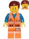 Minifig No: tlm120  Name: Emmet - Wink Smile / Scared, Worn Uniform