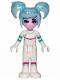 Minifig No: tlm143  Name: Sweet Mayhem - Crooked Smile, Raised Eyebrow, Hair (70820)