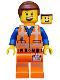 Minifig No: tlm180  Name: Emmet - Lopsided Grin / Confused, Worn Uniform