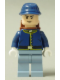 Minifig No: tlr019  Name: Cavalry Soldier - Backpack, Black Eyebrows, Crooked Smile