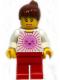 Minifig No: tls002  Name: Lego Brand Store Female, Pink Sun - Costa Mesa