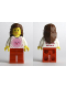 Minifig No: tls014  Name: Lego Brand Store Female, Pink Sun - Lone Tree