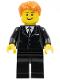 Minifig No: tls021  Name: Lego Brand Store Male, Dark Orange Hair - Liverpool